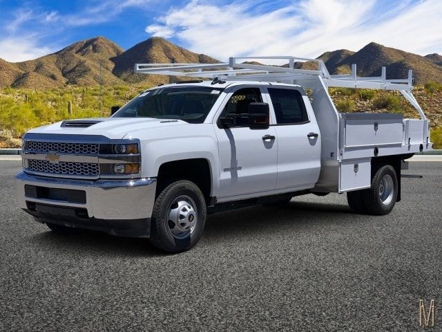 2019 Silverado 3500 Crew Cab DRW 4x2,  Harbor Contractor Body #KF210656 - photo 1
