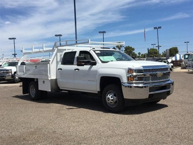 2019 Silverado 3500 Crew Cab DRW 4x2,  Harbor Standard Contractor Body #KF211633 - photo 3