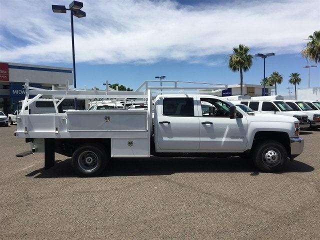 2019 Silverado 3500 Crew Cab DRW 4x2,  Harbor Standard Contractor Body #KF211633 - photo 6