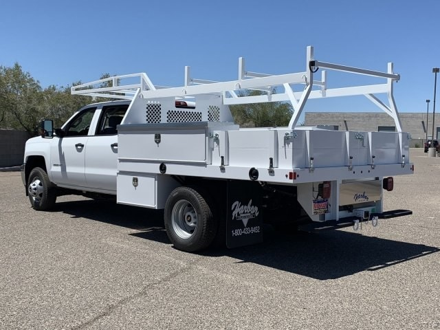 2019 Silverado 3500 Crew Cab DRW 4x2,  Harbor Contractor Body #KF213473 - photo 1