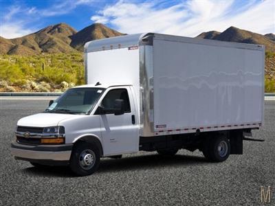 2019 Express 4500 4x2,  Morgan Parcel Aluminum Cutaway Van #KN007278 - photo 1