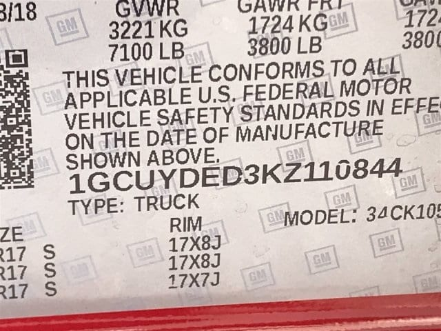 2019 Silverado 1500 Crew Cab 4x4,  Pickup #KZ110844 - photo 14