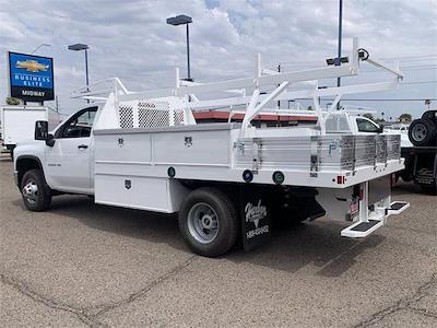2021 Chevrolet Silverado 3500 Regular Cab 4x4, Harbor Standard Contractor Body #MF245834 - photo 2