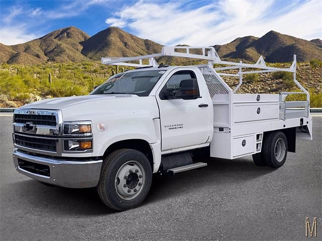 2021 Chevrolet Silverado 4500 Regular Cab DRW 4x2, RhinoPro Truck Outfitters Contractor Body #MH619941 - photo 1