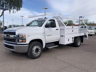 2021 Chevrolet Silverado 4500 Regular Cab DRW 4x2, RhinoPro Truck Outfitters Contractor Body #MH619941 - photo 4