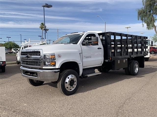 2021 Chevrolet Silverado 4500 Regular Cab DRW 4x4, CM Truck Beds PL Model Stake Bed #MH648838 - photo 4