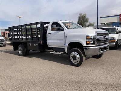 2021 Chevrolet Silverado 4500 Regular Cab DRW 4x4, CM Truck Beds PL Model Stake Bed #MH648838 - photo 5