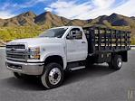 2021 Chevrolet Silverado 4500 Regular Cab DRW 4x4, CM Truck Beds PL Model Stake Bed #MH648838 - photo 1