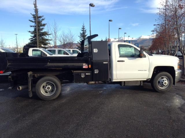 2015 Silverado 3500 Regular Cab 4x4, Monroe Dump Body #FF654814 - photo 3