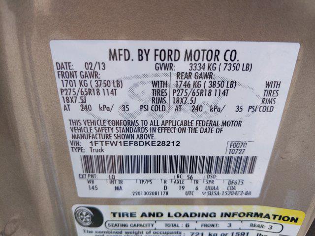 2013 Ford F-150 SuperCrew Cab 4x4, Pickup #DKE28212 - photo 23