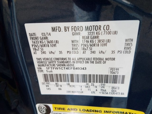 2014 F-150 SuperCrew Cab 4x2, Pickup #EFB49343 - photo 23