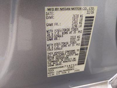 2017 Nissan Frontier Crew Cab 4x4, Pickup #HN714754 - photo 23