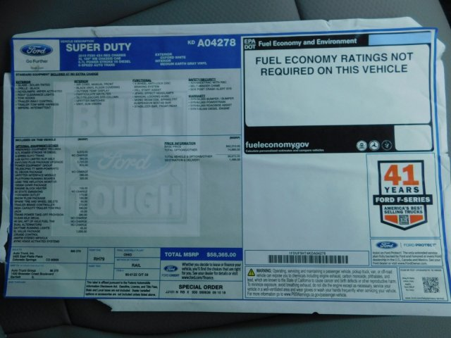 2019 Ford F-550 Regular Cab DRW 4x4, Knapheide Value-Master X Platform Body #KDA04278 - photo 16