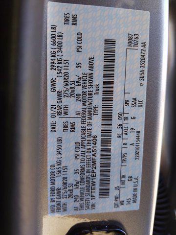 2021 Ford F-150 SuperCrew Cab 4x4, Pickup #MFA51406 - photo 18