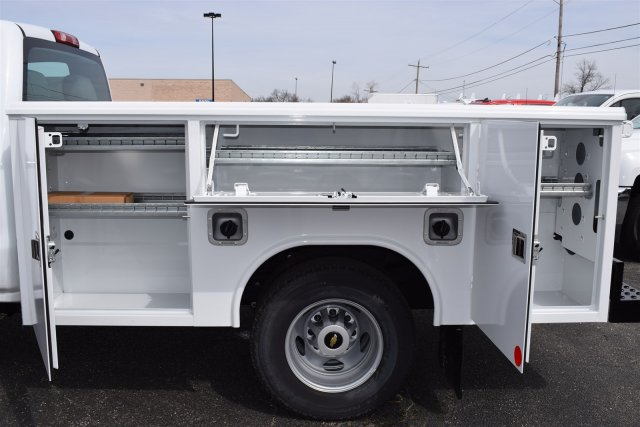 2017 Silverado 3500 Regular Cab DRW 4x4,  Reading Classic II Steel Service Body #1726527 - photo 2