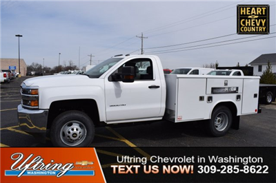 2017 Silverado 3500 Regular Cab DRW 4x4,  Reading Classic II Steel Service Body #1726527 - photo 1