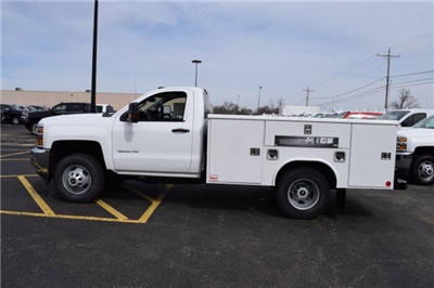 2017 Silverado 3500 Regular Cab DRW 4x4,  Reading Classic II Steel Service Body #1726527 - photo 3