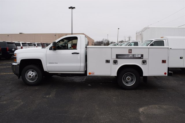 2017 Silverado 3500 Regular Cab DRW, Reading Classic II Steel Service Body #1730812 - photo 3