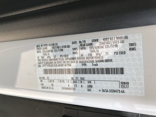 2018 Transit 250 Med Roof 4x2, Empty Cargo Van #JKB14756 - photo 25