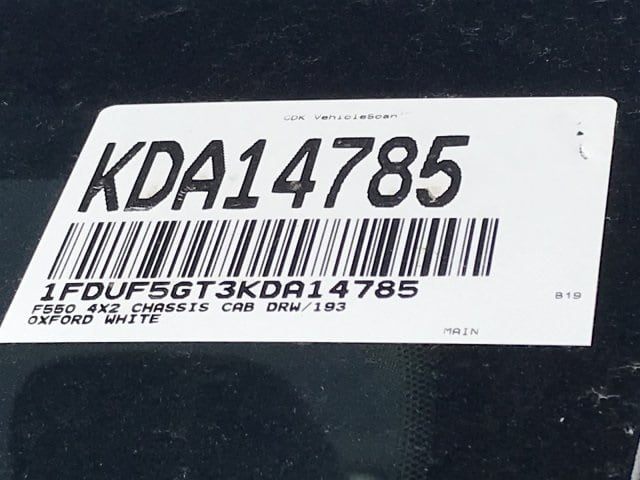2019 F-550 Regular Cab DRW 4x2,  Cab Chassis #KDA14785 - photo 27