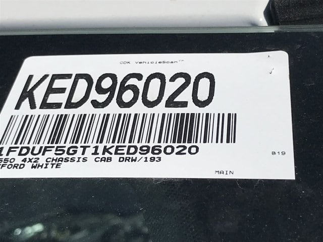 2019 F-550 Regular Cab DRW 4x2,  Cab Chassis #KED96020 - photo 28