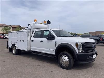 2019 Ford F-550 Crew Cab DRW 4x4, Milron Aluminum Service Crane Body #KEG51007 - photo 1