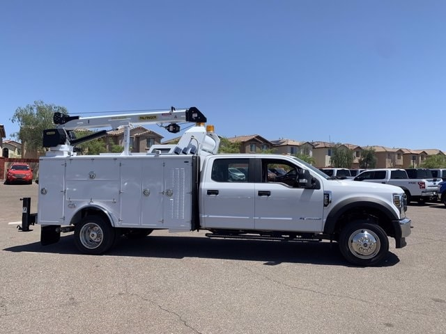2019 Ford F-550 Crew Cab DRW 4x4, Milron Aluminum Service Crane Body #KEG55293 - photo 4