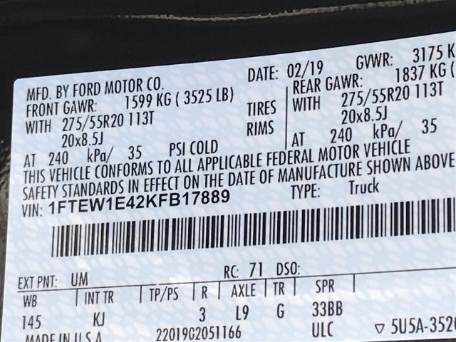 2019 F-150 SuperCrew Cab 4x4,  Pickup #KFB17889 - photo 11
