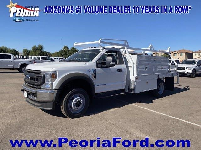 2020 Ford F-550 Regular Cab DRW 4x4, Scelzi SCTFB Contractor Body #LDA07888 - photo 1