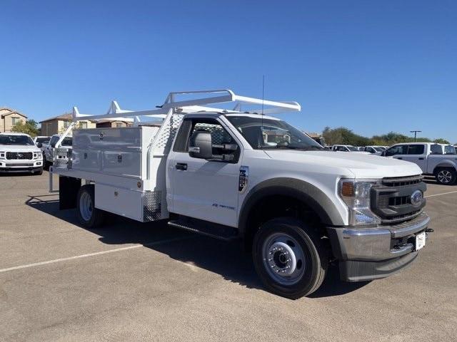 2020 Ford F-550 Regular Cab DRW 4x4, Scelzi SCTFB Contractor Body #LDA07888 - photo 1