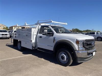2020 Ford F-550 Regular Cab DRW 4x4, Scelzi SCTFB Contractor Body #LDA07888 - photo 2