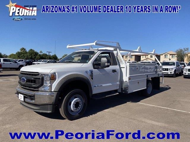 2020 Ford F-550 Regular Cab DRW 4x2, Scelzi Contractor Body #LDA09640 - photo 1