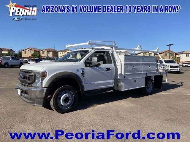 2020 Ford F-550 Regular Cab DRW 4x2, Scelzi SCTFB Contractor Body #LDA09646 - photo 1