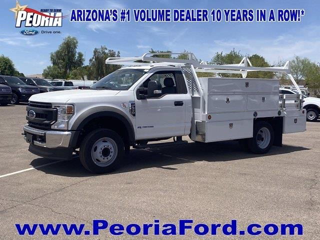2020 Ford F-550 Regular Cab DRW 4x2, Scelzi Contractor Body #LDA09663 - photo 1