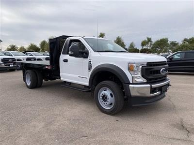 2020 Ford F-550 Regular Cab DRW 4x4, Monroe Work-A-Hauler II Platform Body #LDA09830 - photo 1