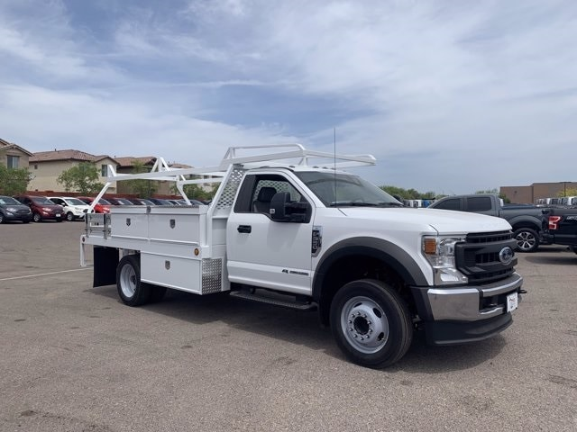 2020 Ford F-550 Regular Cab DRW 4x2, Scelzi Contractor Body #LEC57489 - photo 1