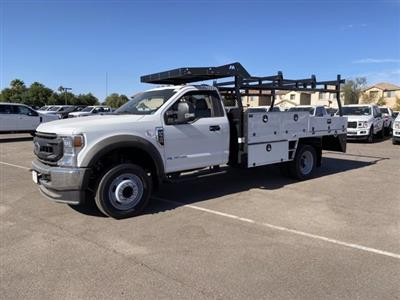 2020 Ford F-550 Regular Cab DRW 4x2, Milron Contractor Contractor Body #LED79364 - photo 3