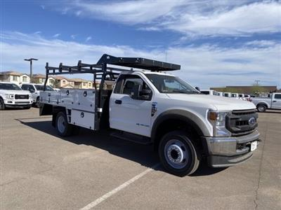2020 Ford F-550 Regular Cab DRW 4x4, Milron Contractor Contractor Body #LED87547 - photo 1