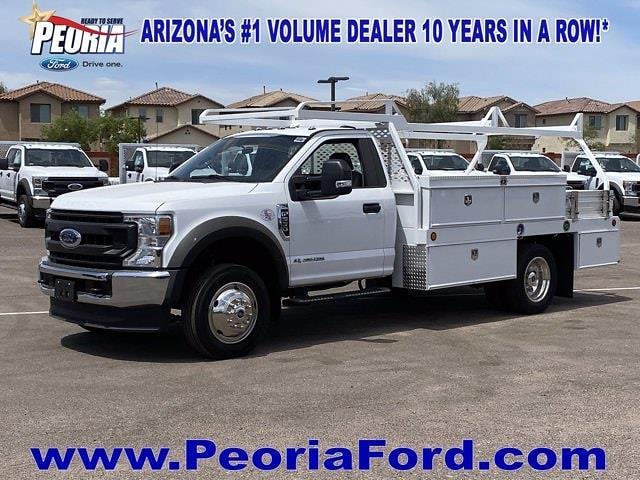 2020 Ford F-550 Regular Cab DRW 4x2, Scelzi Contractor Body #LEE12521 - photo 1