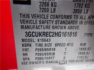 2017 Silverado 1500 Crew Cab 4x4,  Pickup #26632 - photo 16