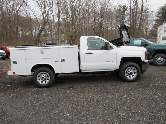 2018 Silverado 3500 Regular Cab 4x4,  Reading Classic II Steel Service Body #27606 - photo 8