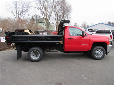 2018 Silverado 3500 Regular Cab DRW 4x4, Dump Body #27686 - photo 8