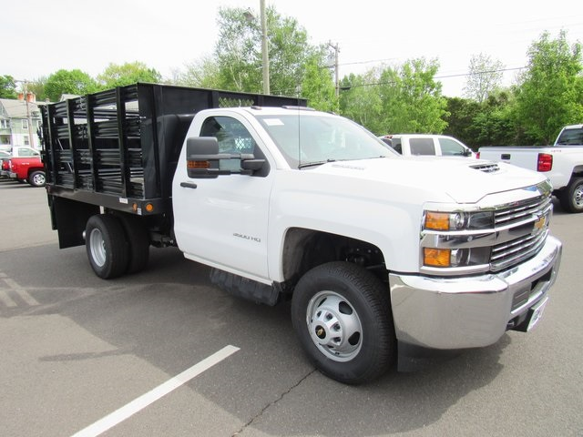 2018 Silverado 3500 Regular Cab DRW 4x4,  Reading Stake Bed #27863 - photo 3