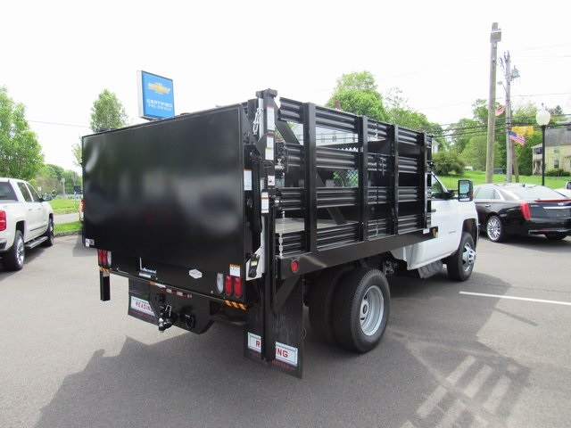 2018 Silverado 3500 Regular Cab DRW 4x4,  Reading Stake Bed #27863 - photo 7