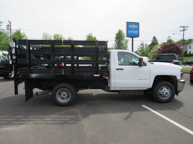 2018 Silverado 3500 Regular Cab DRW 4x4,  Reading Stake Bed #27863 - photo 8