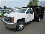 2018 Silverado 3500 Regular Cab DRW 4x4,  Reading Stake Bed #27863 - photo 1