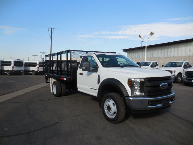 2019 Ford F-550 Regular Cab DRW RWD, Valew Stake Bed #196401 - photo 1