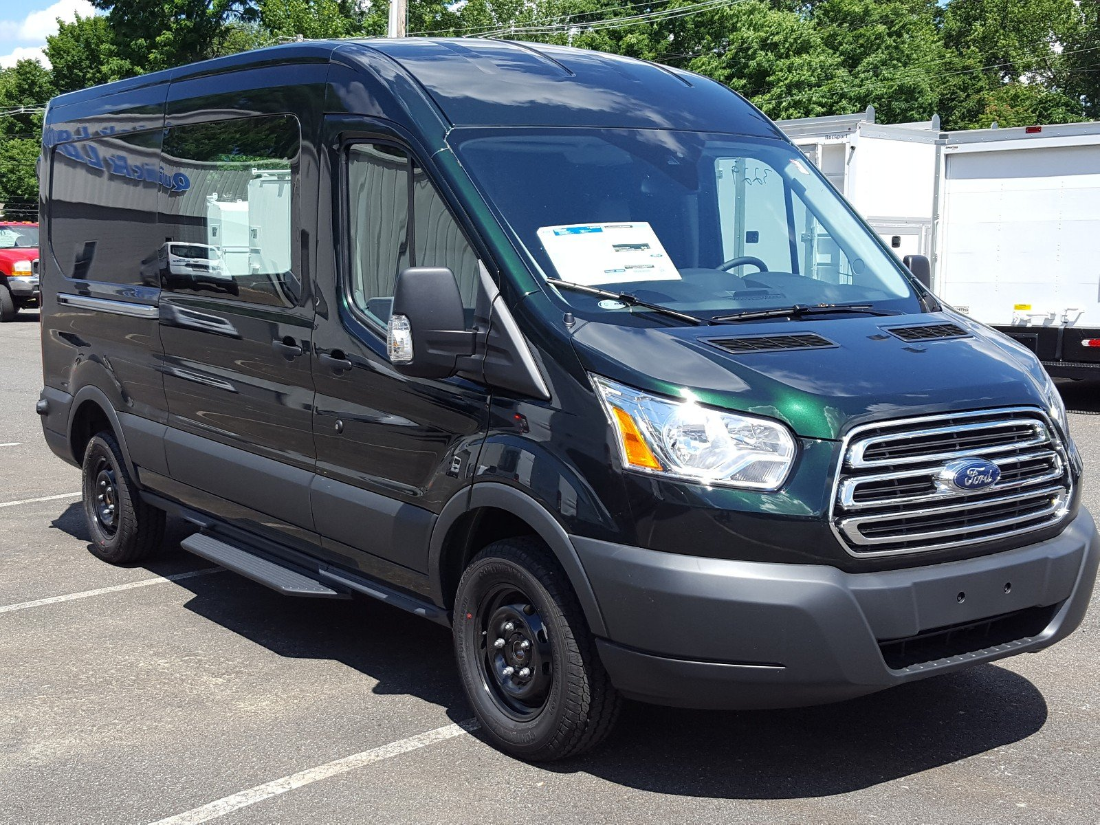 2017 Transit 250 Medium Roof Cargo Van #Q7675 - photo 8