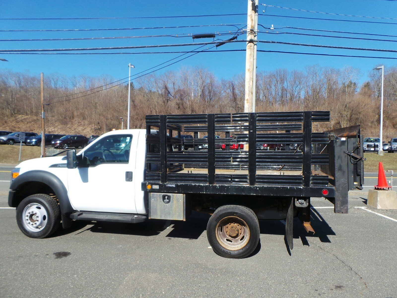 2013 F-550 Regular Cab DRW 4x4,  Stake Bed #S7418A - photo 4