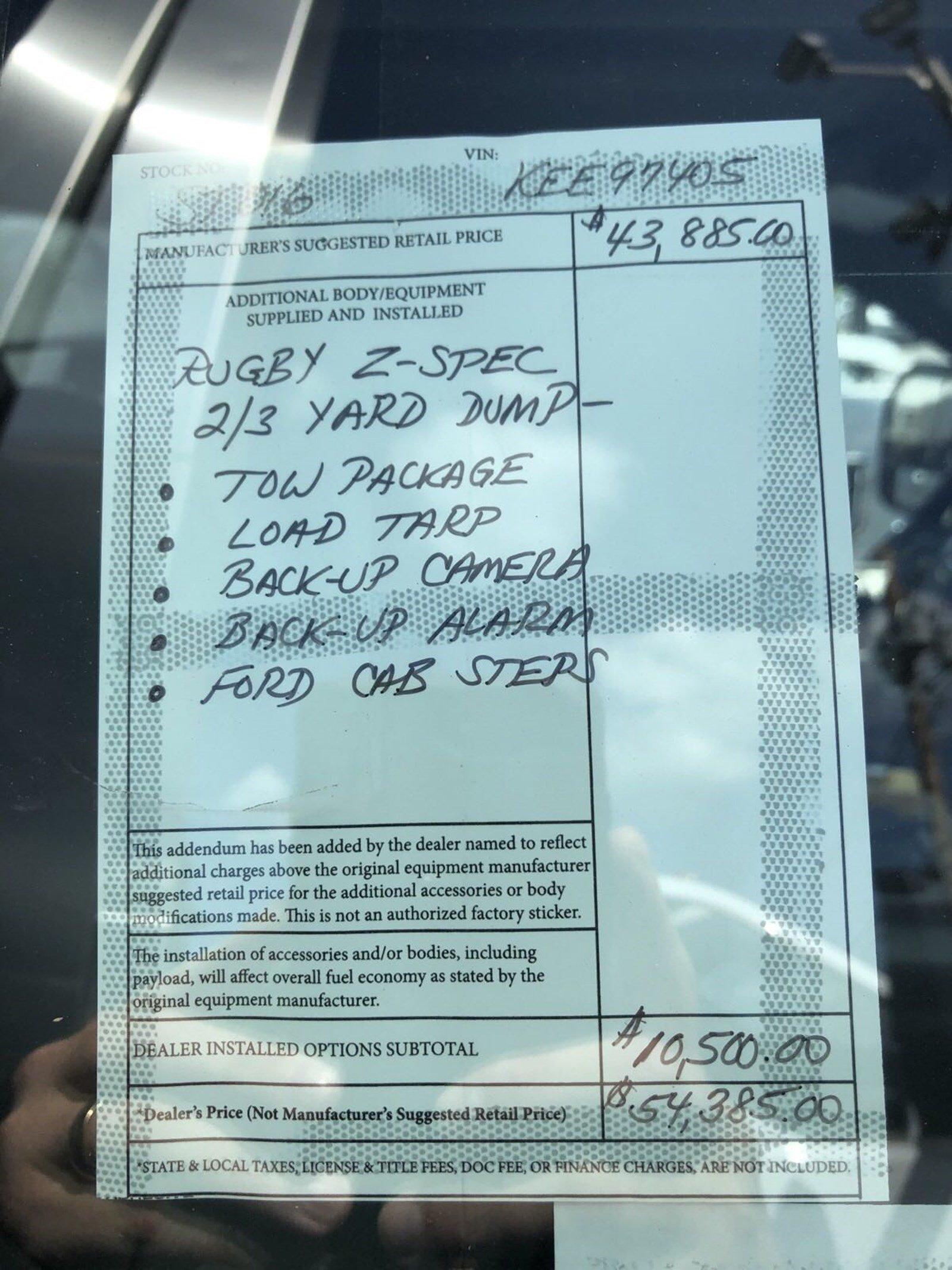 2019 F-350 Regular Cab DRW 4x4,  Rugby Z-Spec Dump Body #ST016 - photo 6